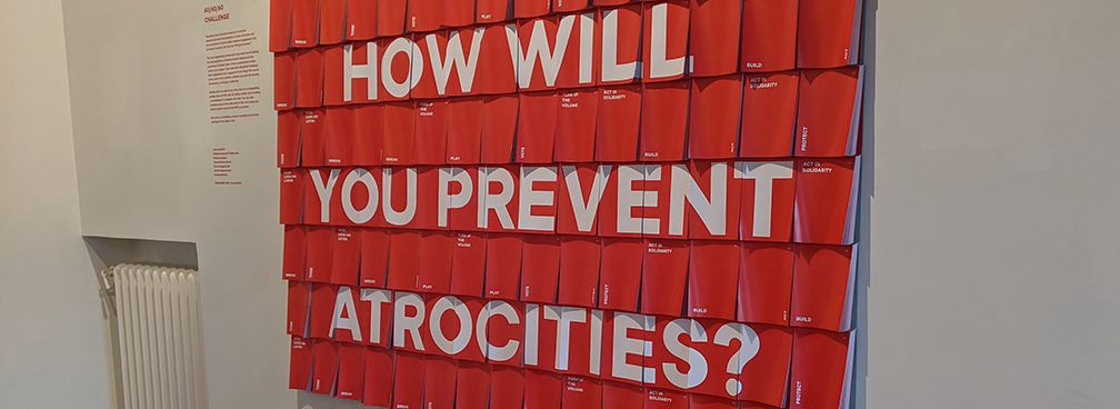 Artivism: The Atrocity Prevention Pavilion is now open!