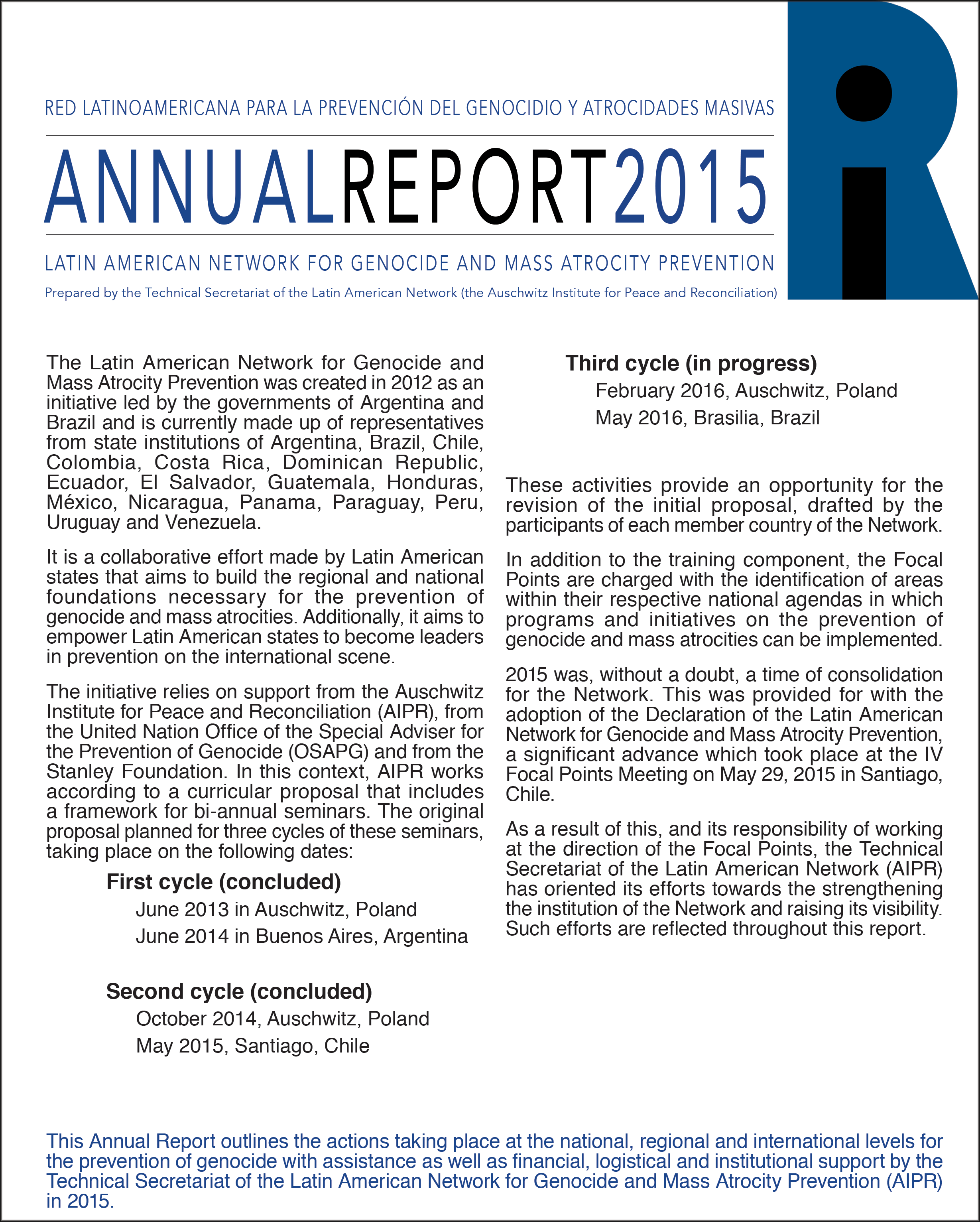 Annual Report of the Latin American Network - 2014