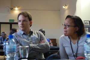 Ms. Bourcicot (right) at the 2015 Raphael Lemkin Seminar