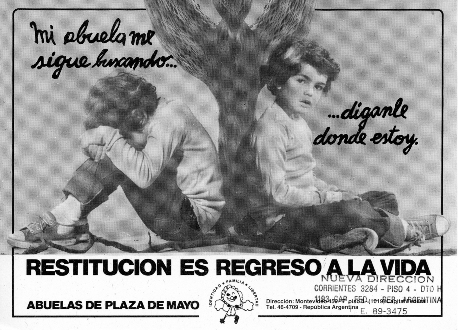 1986 Flyer by the Abuelas de Plaza de Mayo